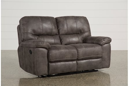 Neve Grey Reclining Loveseat - Main