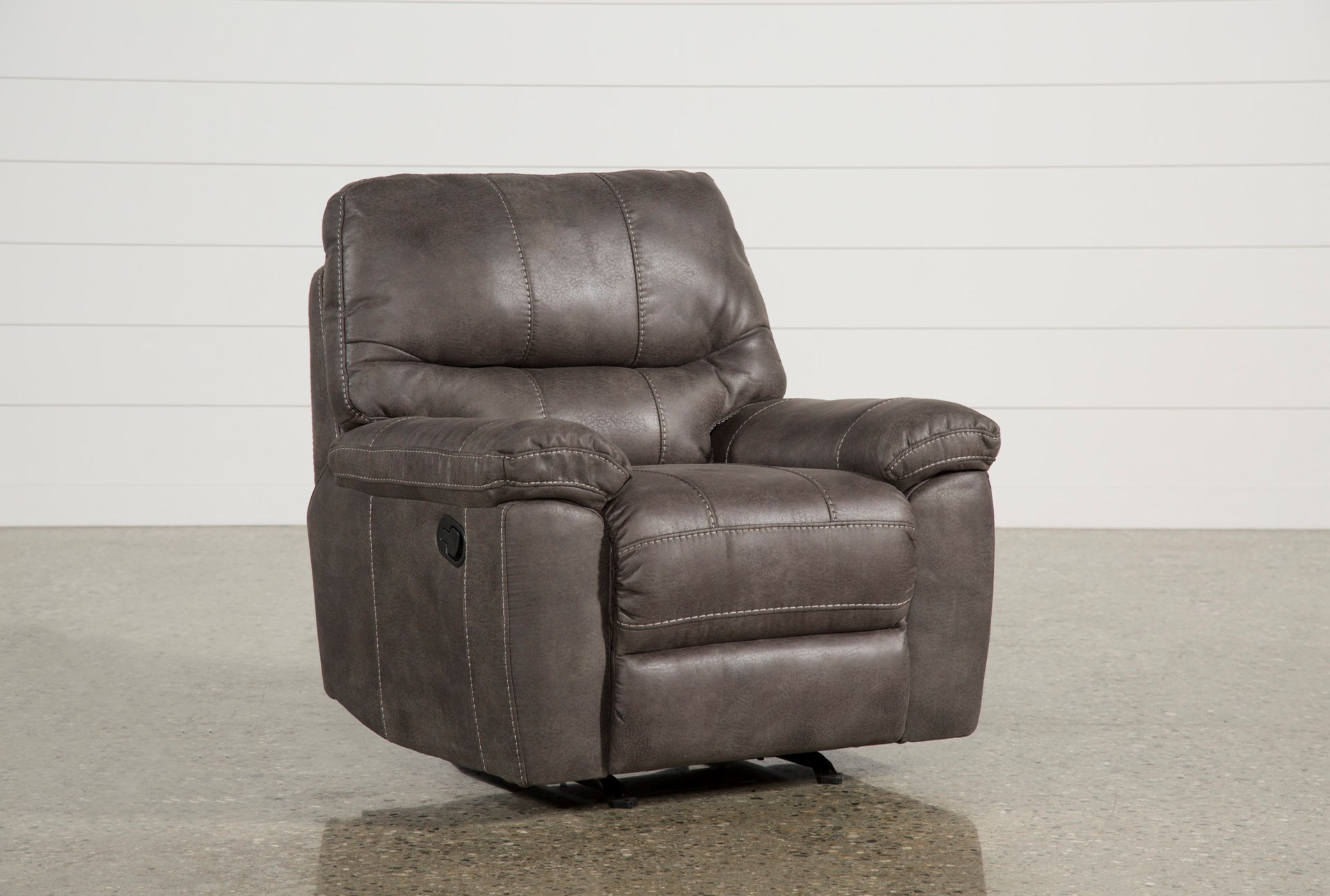 added to cart neve grey recliner . neve grey recliner  living spaces