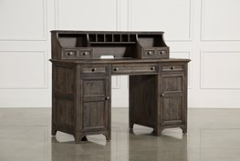 Valencia Counter Desk With Hutch