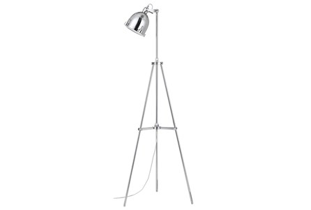 Floor Lamp-Chrome Nautical Spotlight