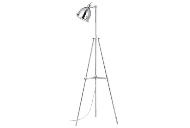 Floor Lamp-Chrome Nautical Spotlight - 360