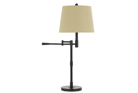 Table Lamp-Antique Bronze Swing Arm