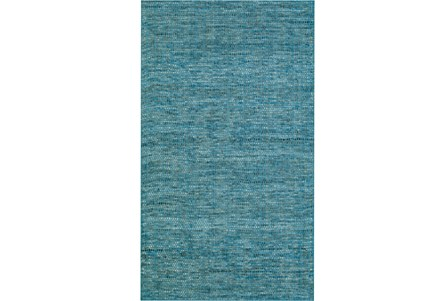 96X120 Rug-Wool Tweed Denim