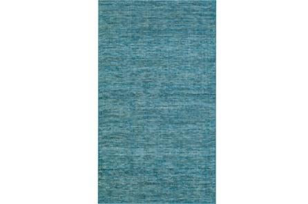 96X120 Rug-Wool Tweed Denim - Main
