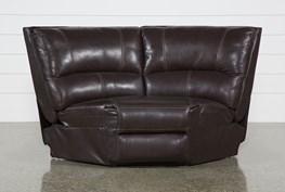 Clyde Dark Brown Leather Wedge