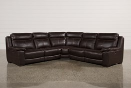 Courtney Walnut 5 Piece Power Reclining Sectional