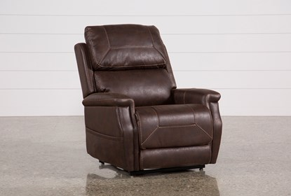Miraculous Buckley Walnut Power Lift Recliner With Power Headrest Frankydiablos Diy Chair Ideas Frankydiabloscom
