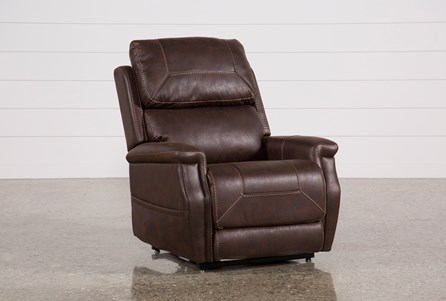 Buckley Walnut Power-Lift Recliner