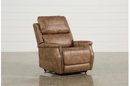 Buckley Saddle Power-Lift Recliner With Power Headrest