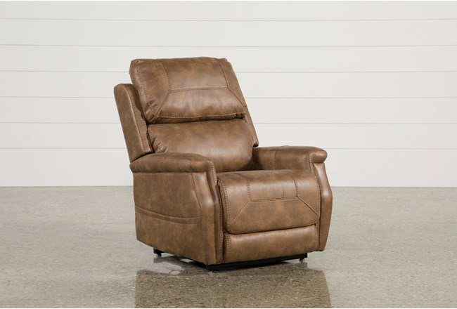 Buckley Saddle Power-Lift Recliner | Living Spaces
