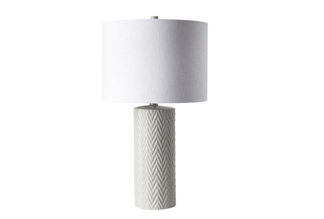 Table Lamp-White Chevron Ceramic - 360