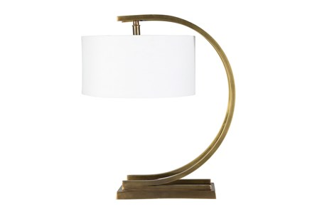 Table Lamp-Brass Half Moon