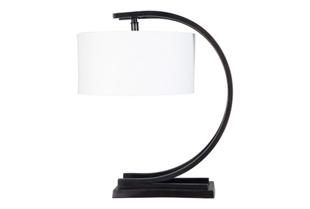 Table Lamp-Black Brass Half Moon