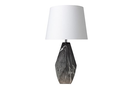 Table Lamp-Grey Faux Marble Dimensions