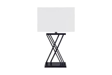 Table Lamp-Black Brass X Base