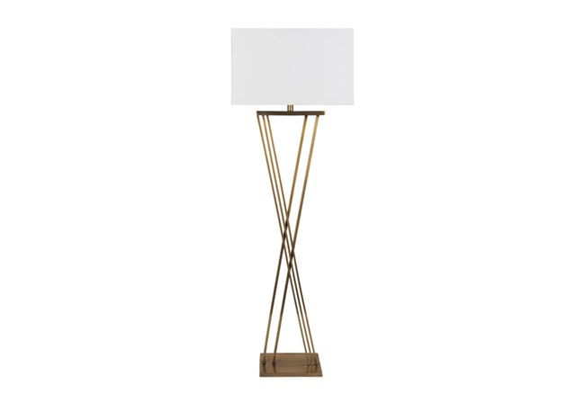 Floor Lamp-Brass X Base - 360
