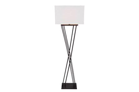 Floor lamp black brass x base