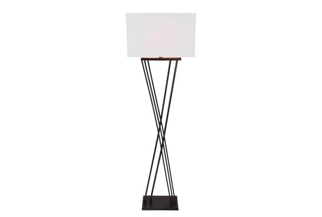 Floor Lamp-Black Brass X Base - 360