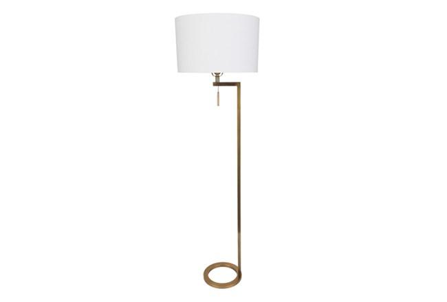 Floor Lamp-Brass Ring - 360