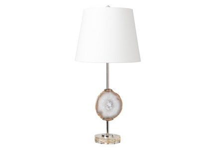 Table Lamp-Agate Disc