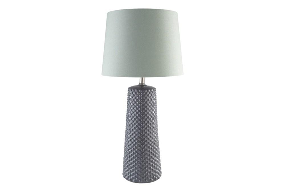 Table Lamp-Ceramic Dots Grey