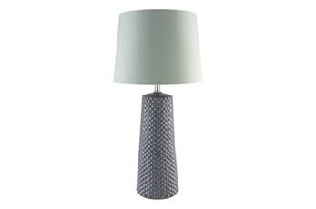 Table Lamp-Ceramic Dots Grey