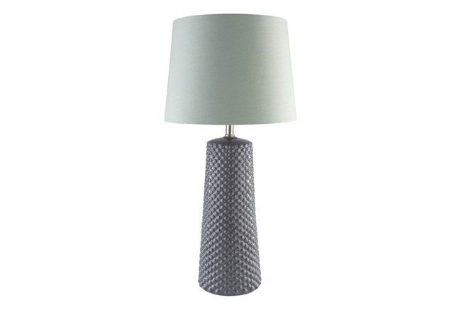 Table Lamp-Ceramic Dots Grey - 360