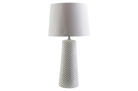 Table Lamp-Ceramic Dots White