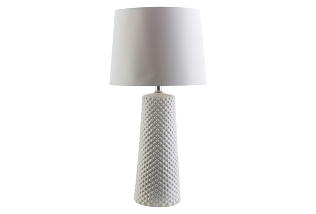 Table Lamp-Ceramic Dots White - 360