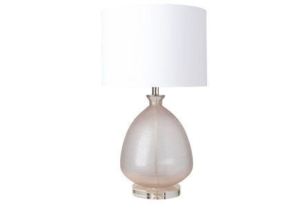 Table Lamp-Frosted Glass Dome Champagne