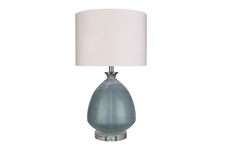 Table Lamp-Frosted Glass Dome Grey