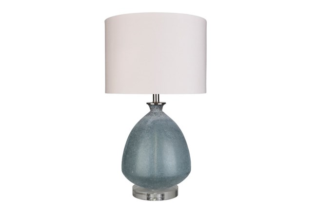 Table Lamp-Frosted Glass Dome Grey - 360