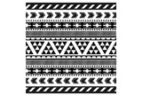 Picture-Black And White Tribal Print II - Signature