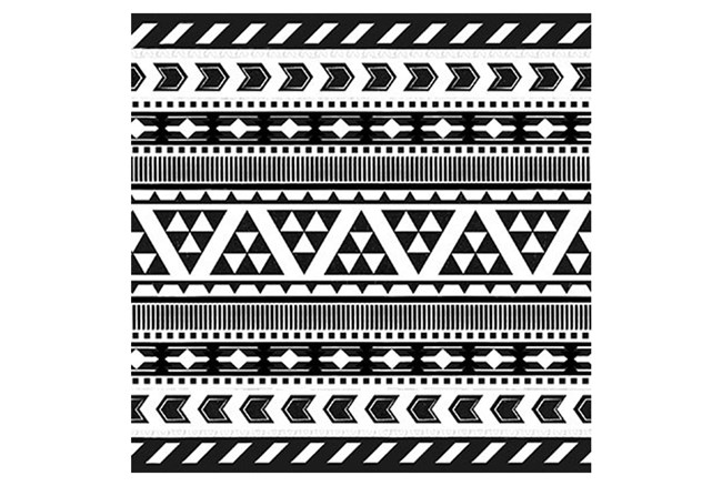 Picture-Black And White Tribal Print II - 360