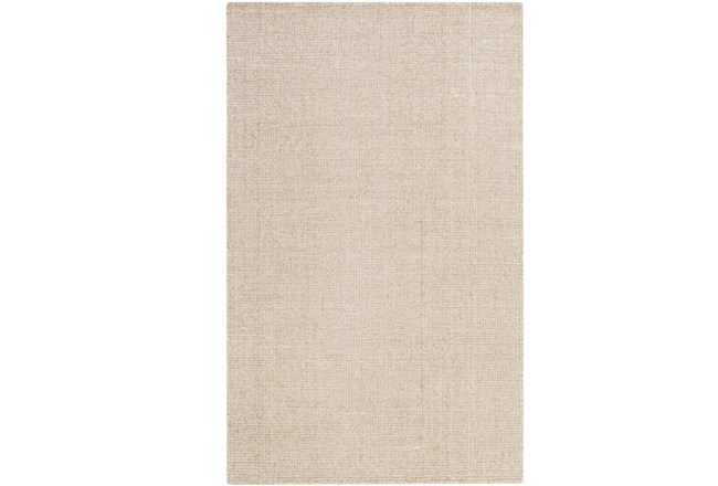 24X36 Rug-Berber Tufted Wool Khaki - 360