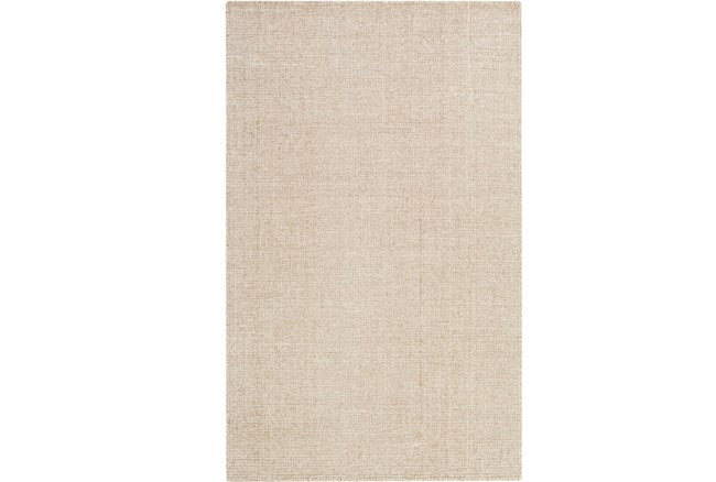 60X90 Rug-Berber Tufted Wool Khaki - 360