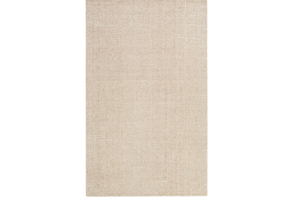 96X120 Rug-Berber Tufted Wool Khaki