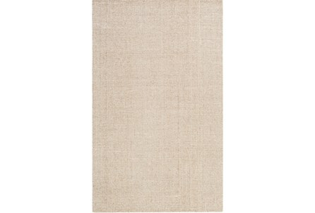 96X120 Rug-Berber Tufted Wool Khaki