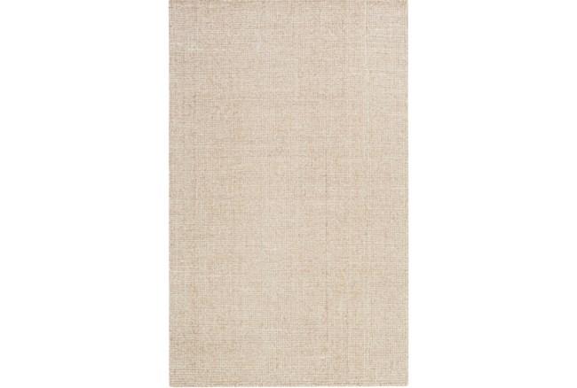96X120 Rug-Berber Tufted Wool Khaki - 360