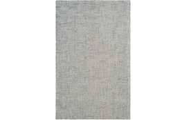 96X120 Rug-Berber Tufted Wool Denim