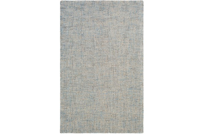 96X120 Rug-Berber Tufted Wool Denim - 360