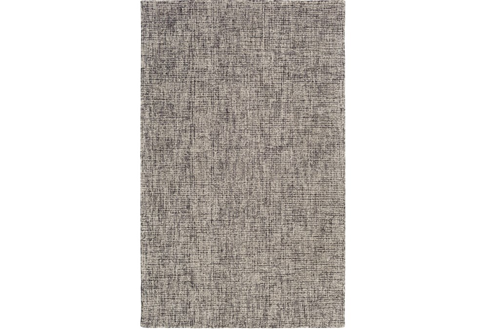 2'x3' Rug-Berber Tufted Wool Navy/Charcoal