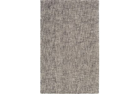 24X36 Rug-Berber Tufted Wool Navy/Charcoal