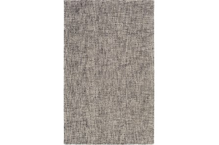 24X36 Rug-Berber Tufted Wool Navy/Charcoal