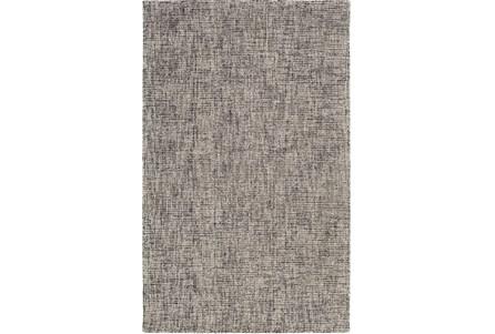 60X90 Rug-Berber Tufted Wool Navy/Charcoal