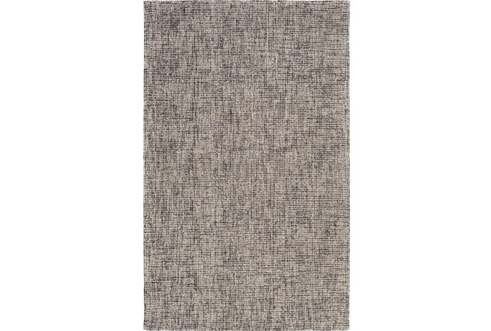96X120 Rug-Berber Tufted Wool Navy/Charcoal