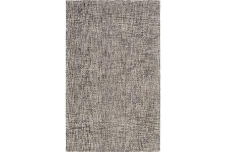 96X120 Rug-Berber Tufted Wool Navy/Charcoal