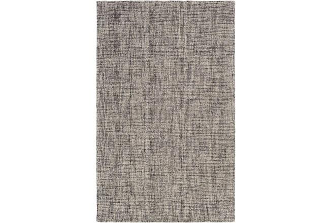 96X120 Rug-Berber Tufted Wool Navy/Charcoal - 360