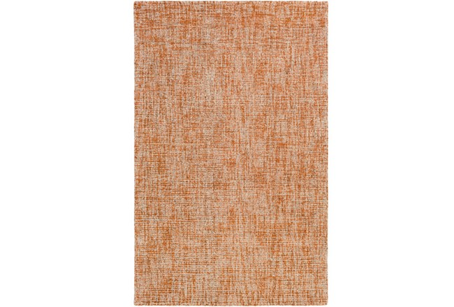 24X36 Rug-Berber Tufted Wool Orange - 360