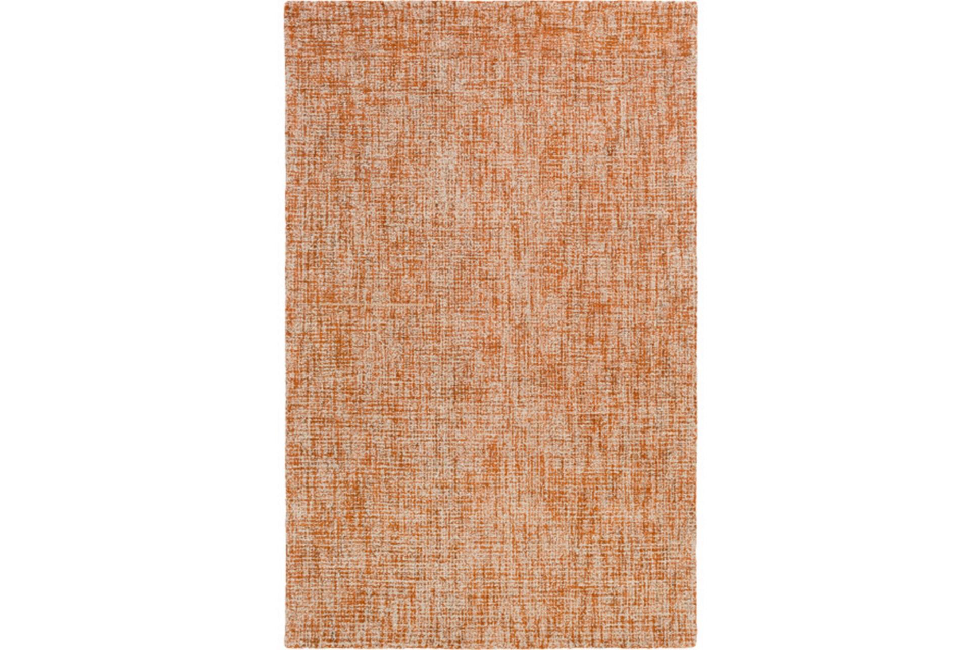 60x90 Rug Berber Tufted Wool Orange Living Spaces
